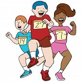 An image of teenage runners.