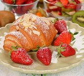 Croissant With Strawberry