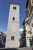 Leaning Bell Tower in Rijeka, Croatia
