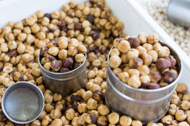 pic of cobnuts  - A hazelnut is the nut of the hazel and is also known as cobnut or filbert nut according to species  - JPG