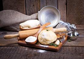 stock photo of bakeshop  - Dough background - JPG