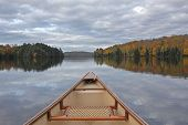 Canoe Bow On An Autumn Lake