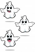 Mean Cartoon Ghost Set