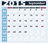 Calendar 2015 September vector design template