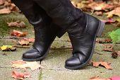 Black, women's boots