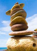stock photo of fulcrum  - Zen Pebbles Stable Object - JPG