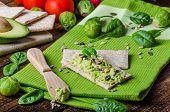 Home Avocado Spread On Crispbread With Seeds
