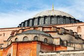 stock photo of constantinople  - Exterior of Hagia Sofia church in Istanbul Constantinople Turkey - JPG