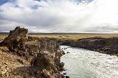 Landscape Near Godafoss Warerfall In Iceland3
