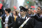 Italian police officer in uniform