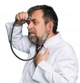 Mad Doctor With A Stethoscope
