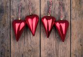 Christmas Heart Ornaments