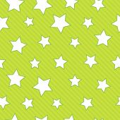 Green seamless background with stars