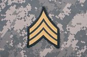 Us Army Uniform Sergeant Rank Patch