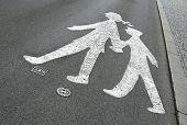 children pedestrian sign on the road