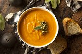 image of butternut  - Homemade Autumn Butternut Squash Soup with Bread - JPG