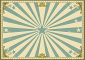 vintage certificate horizontal background. A vintage poster with sunbeams for your advertising. Perf