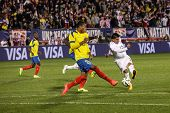 HARTFORD - OCTOBER 10: Action in the International Friendly match between US Men`s National Team vs Ecuador, final score 1 - 1, on October 10, 2014, in Rentschler Field stadium, Hartford, USA.