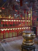 Red & gold Chinese temple interior