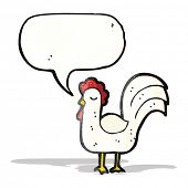 cartoon clucking chicken
