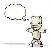 cartoon robot in panic