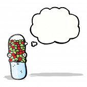 stock photo of antibiotics  - cartoon antibiotic pill character - JPG