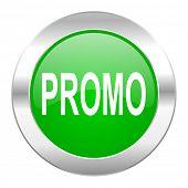 promo green circle chrome web icon isolated