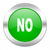 no green circle chrome web icon isolated