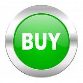 buy green circle chrome web icon isolated