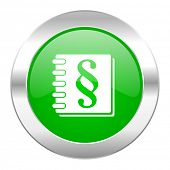 law green circle chrome web icon isolated