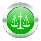 justice green circle chrome web icon isolated