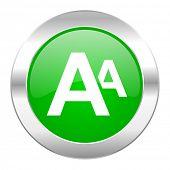 alphabet green circle chrome web icon isolated