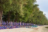 Chair at the beach Manow Beach Thailand
