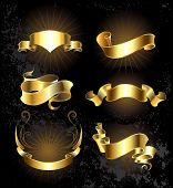Set Of Gold Ribbons Set