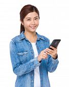 Woman use mobile phone