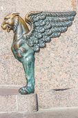 Griffin - bronze winged lion