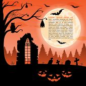 Halloween party background. Vector illustration
