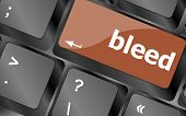 Bleed Word On Keyboard Key, Notebook Computer Button