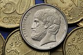 pic of philosopher  - Coins of Greece - JPG