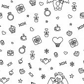 Vector Illustration Of Seamless Love Pattern