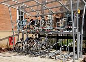 Bicycle parking station, Derby.
