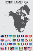 Set Of Infographic Elements For The Country Of Northamerica