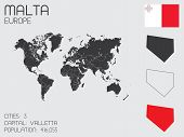 Set Of Infographic Elements For The Country Of Malta