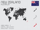Set Of Infographic Elements For The Country Of New Zealand