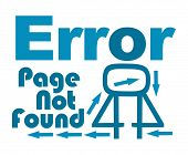 picture of not found  - Page not found concept image with creative text and elements - JPG