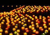 Llighted Candles At Night