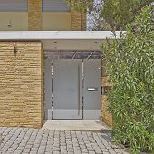 Modern house door Athens suburbs Greece