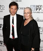 NEW YORK-OCT 10: Director Bennett Miller (L) and Vanessa Redgrave attend the