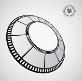 round film strip - abstract background with emblem