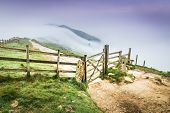 The Great Ridge Fence In The Peak District, England